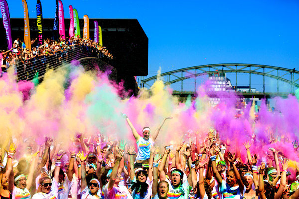 The Color Run erobert Deutschland.  Foto: Veranstalter