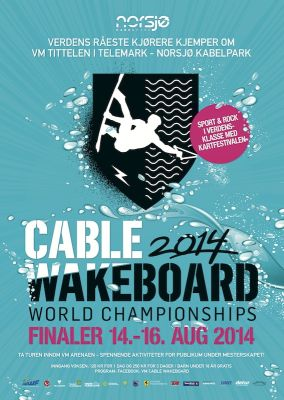 Cable Wakeboard World Championships Norwegen 2014.  Foto: VM Cable Wakeboard 2014