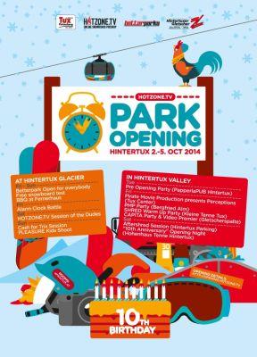 Hintertux Park Opening 2014.  Foto: Veranstalter