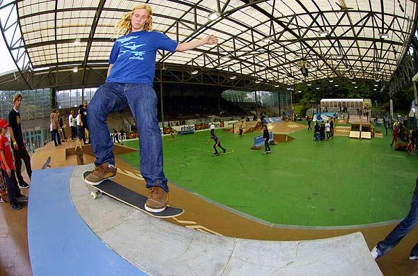 Philip Schuster bei der Skateboard Europameisterschaft Foto: Eric Antoine, Skateboardeurope.com