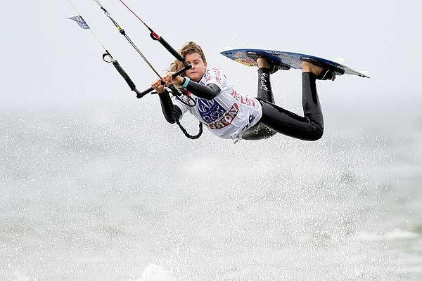 Gisela Pulido beim Gard Kitesurf World Cup in St. Peter-Ording
