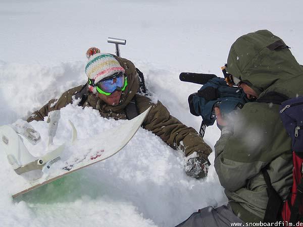 Simon und Clemens beim Interview www.snowboardfilm.de