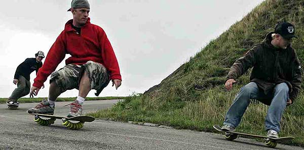skateboard mit 14 rollen