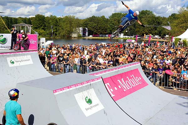 BMX-Action bei den T-Mobile Extreme Playgrounds