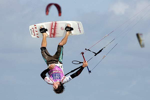 Aaron Hadlow beim Kitesurf World Cup in St. Peter-Ording Foto: Veranstalter