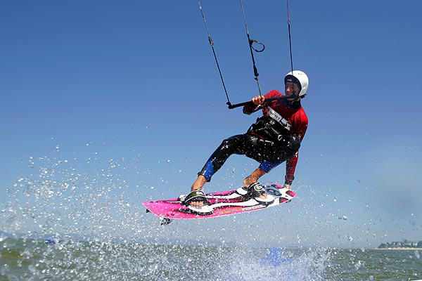 Julien Bracht bei der Kitesurf Trophy
