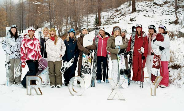 Das Roxy Snow Team